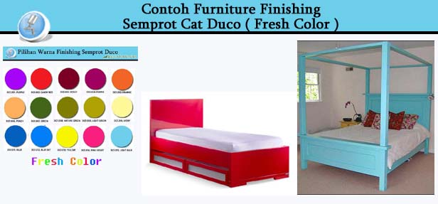 Contoh Furniture Finishing Cat Duco Fresh