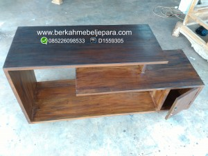 detail buffet tv mahoni