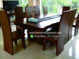 Meja Trembesi Besar Set 10 Kursi