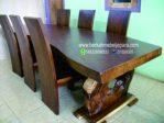 Meja Makan Trembesi Besar Set 6 Kursi
