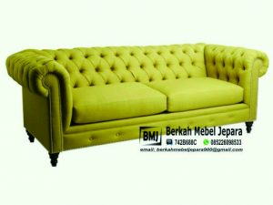 Kursi Sofa Mewah Elegant Oscar Kuning