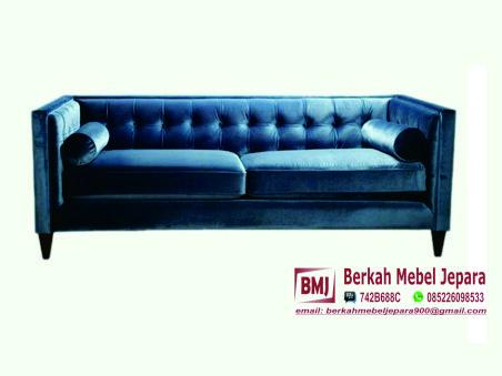Sofa Mewah Oscar Warna Biru