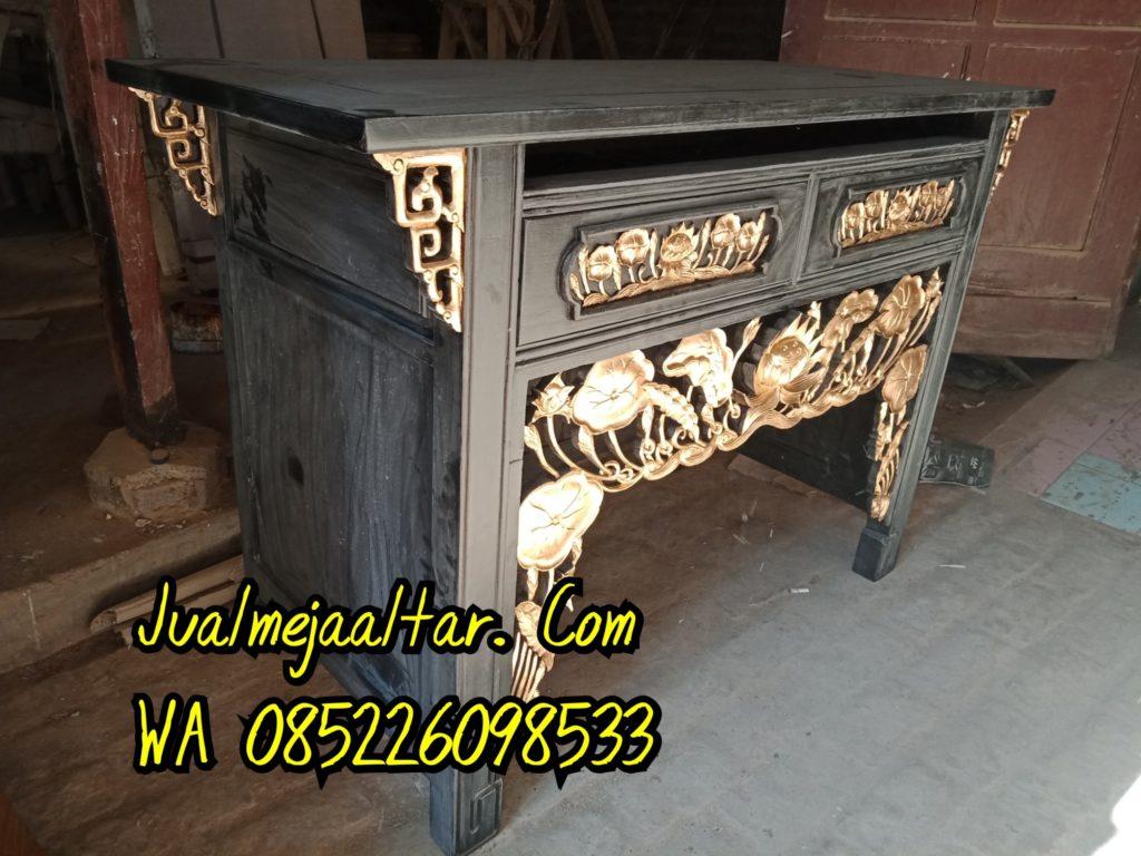 Meja Altar Sembahyang Ukir Teratai